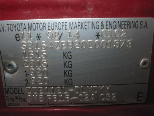 Toyota valmistenumero vuosimalli